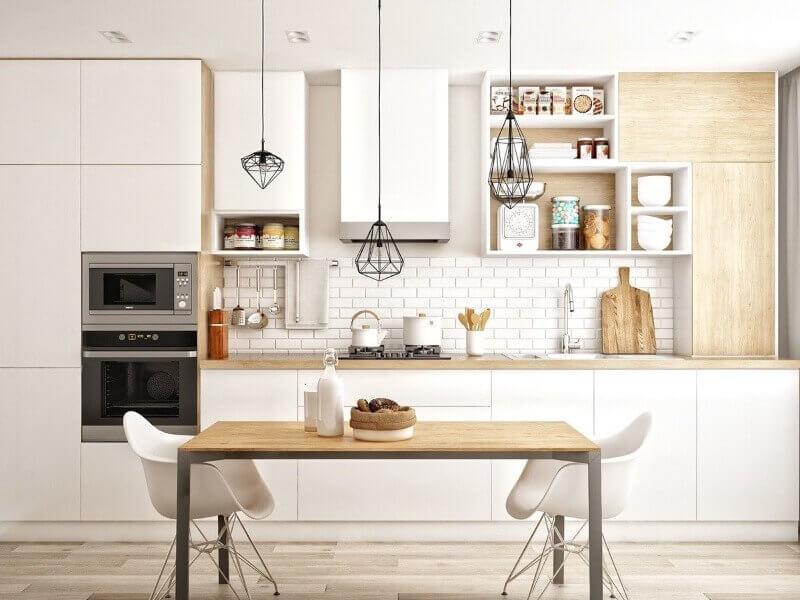Основные виды планировки кухни
